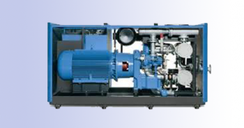 two stage oil free screw compressor