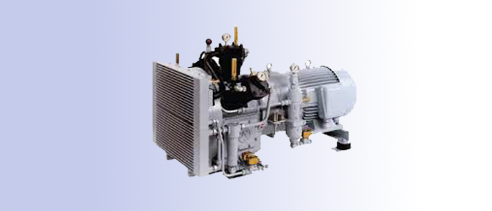 three stage air cooled middle pressure compressor