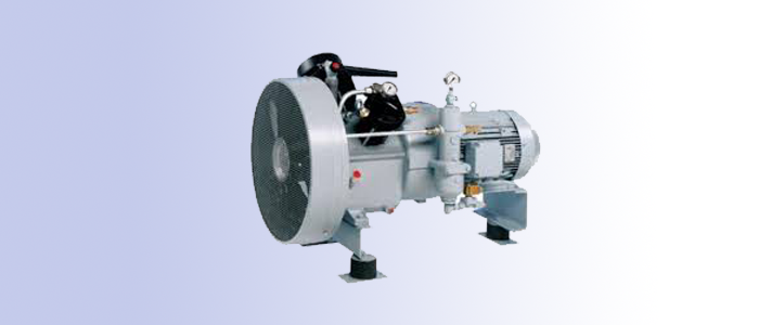 two stage air cooled pressure compressor